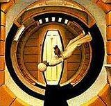 Discovery, le vaisseau spatial dans le film 2001 odyssée de l'espace.