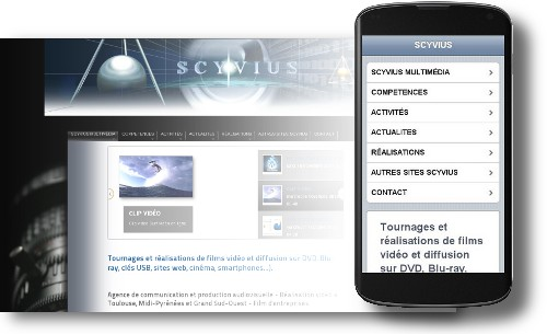 Optimisation de l'affichage d'un site web pour un smartphone