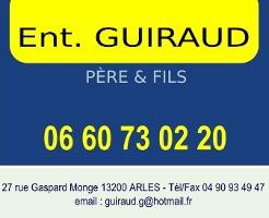Carte de viste de l'entreprise Guiraud Sarl à Arles.