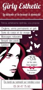Flyer publicitaire institut de beauté