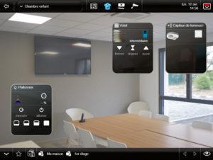 Interface graphique du logiciel de domotique