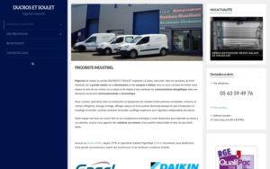 Site web Ducros et Soulet avant refonte