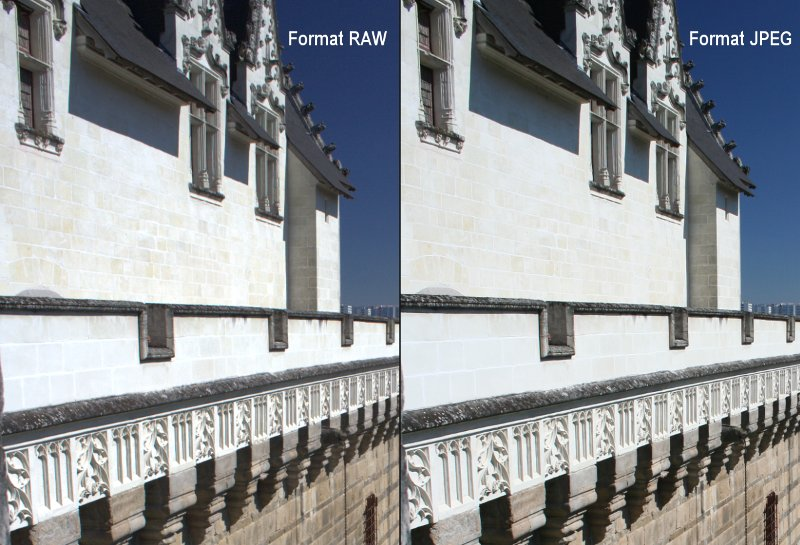 Comparatif format RAW et JPEG en photo