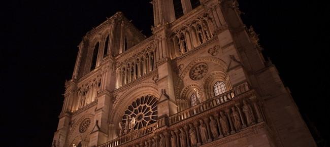 Film vidéo de Paris la nuit