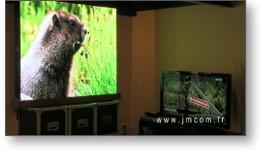Spot vidéo d'un panneau LED intérieur.