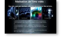 Site web Filmsvideos.fr dédié aux techniques de réalisation de films video