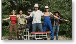 Équipe pour la réalisation d'un film vidéo