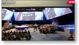 Montage vidéo d'un séminaire d'entreprise.