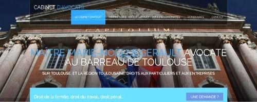 Site web d'un cabinet d'avocats à Blagnac