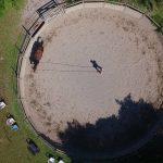 Tournage vidéo avec drone au centre équestre