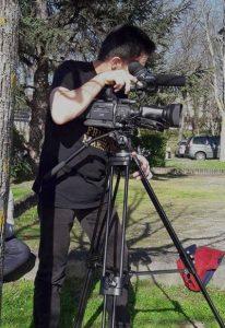 Tournage d'un film vidéo