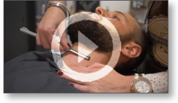 Film vidéo publicitaire pour un barbier