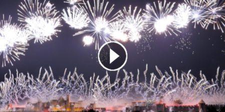 Captation vidéo du feu d'artifice de Carcassonne 2019