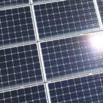 Panneaux solaires vue depuis un drone