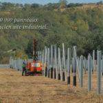 Chantier panneaux photovoltaïques sur site industriel