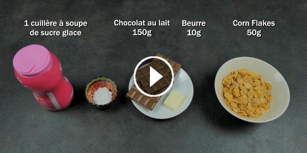 Tuto vidéo dessert rose des sables
