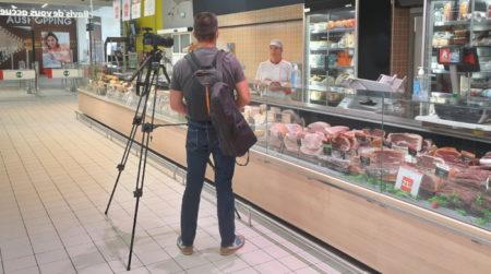 Tournage interview vidéo Auchan