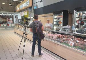 Tournage vidéo Auchan
